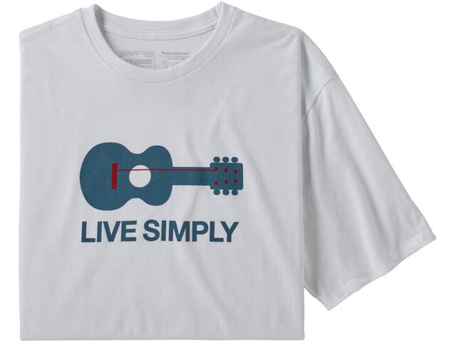 Patagonia Live Simply Guitar Responsibili Tee Men, white